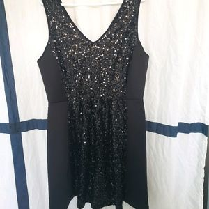 Forever 21 plus 2x Forever XXI black sequin dress